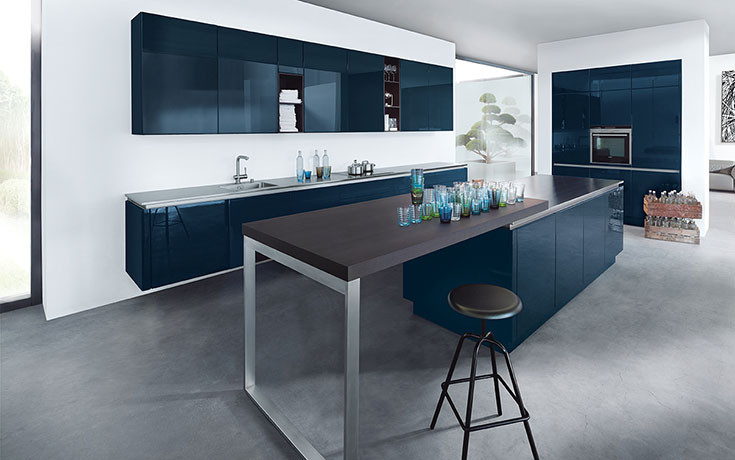 next125 Küche NX501 Indigoblau