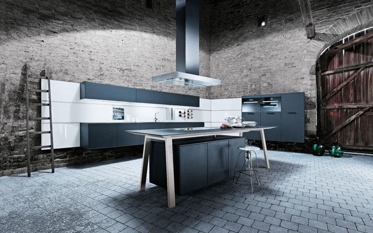 next125 Küche NX500 Lavaschwarz